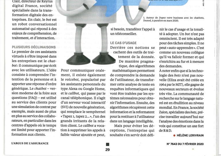ConseilsMarketing.com dans le magazine l'Argus de l'Assurance 4