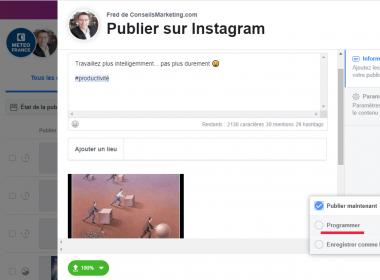 Tuto : Programmer une publication Instagram, Facebook, Twitter, Linkedin, Pinterest... en quelques secondes ! 43