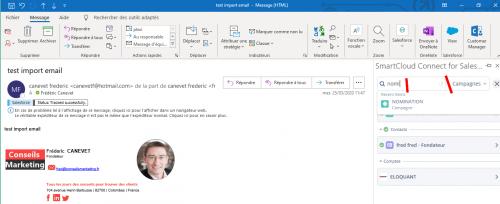 Comment rattacher un email à une campagne marketing Salesforce ou à toutes autres entités ? 9