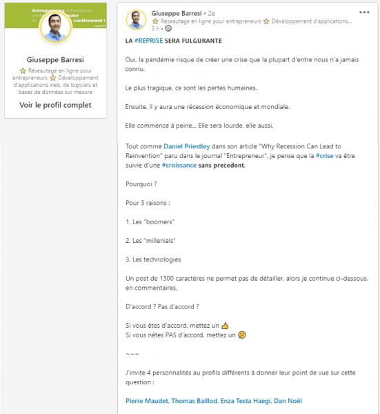 Comment obtenir de l'engagement sur LinkedIn ? 9 types d'articles pour booster votre visibilité sur Linkedin ! 27
