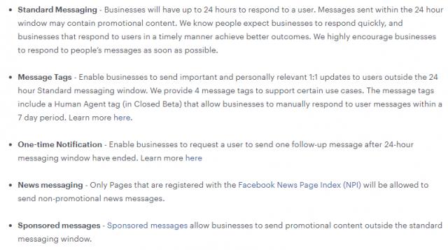 Les nouvelles règles de Facebook sur les Chatbots Messenger... la révolution du 4 mars 2020 ! 3