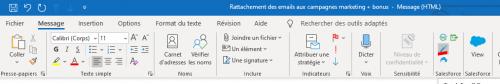 Comment rattacher un email à une campagne marketing Salesforce ou à toutes autres entités ? 10