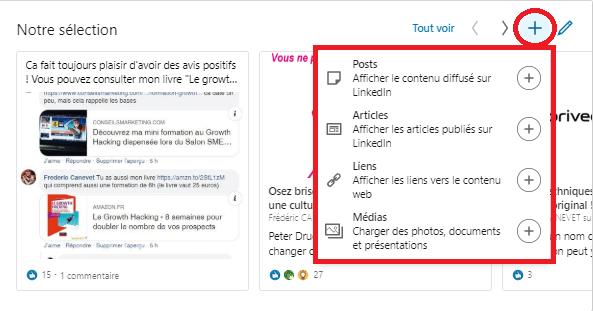 Comment ajouter une nouvelle sélection « épinglée » pour optimiser un profil LinkedIn ? 3