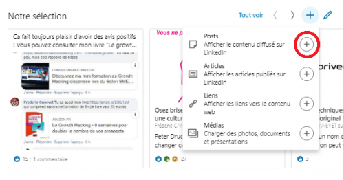 Comment ajouter une nouvelle sélection « épinglée » pour optimiser un profil LinkedIn ? 7