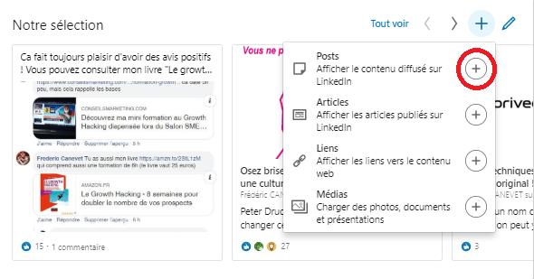 Comment ajouter une nouvelle sélection « épinglée » pour optimiser un profil LinkedIn ? 4