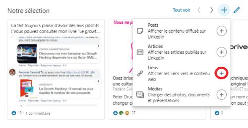 Comment ajouter une nouvelle sélection « épinglée » pour optimiser un profil LinkedIn ? 11