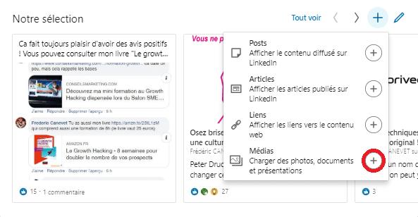 Comment ajouter une nouvelle sélection « épinglée » pour optimiser un profil LinkedIn ? 10