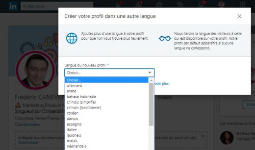 Les 4 étapes pour créer un profil Linkedin en anglais ou dans une autre langue ! 8