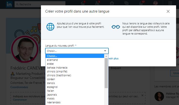 Les 4 étapes pour créer un profil Linkedin en anglais ou dans une autre langue ! 6