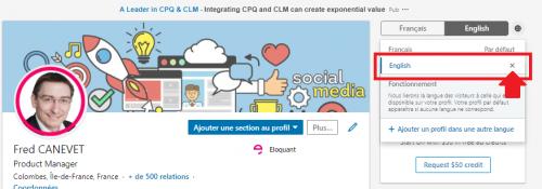 Les 4 étapes pour créer un profil Linkedin en anglais ou dans une autre langue ! 15