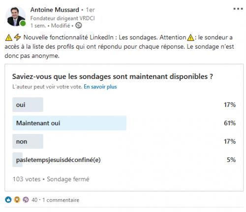 Comment créer un sondage sur Linkedin ? La méthode en 3 étapes ! 16