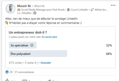 Comment créer un sondage sur Linkedin ? La méthode en 3 étapes ! 21