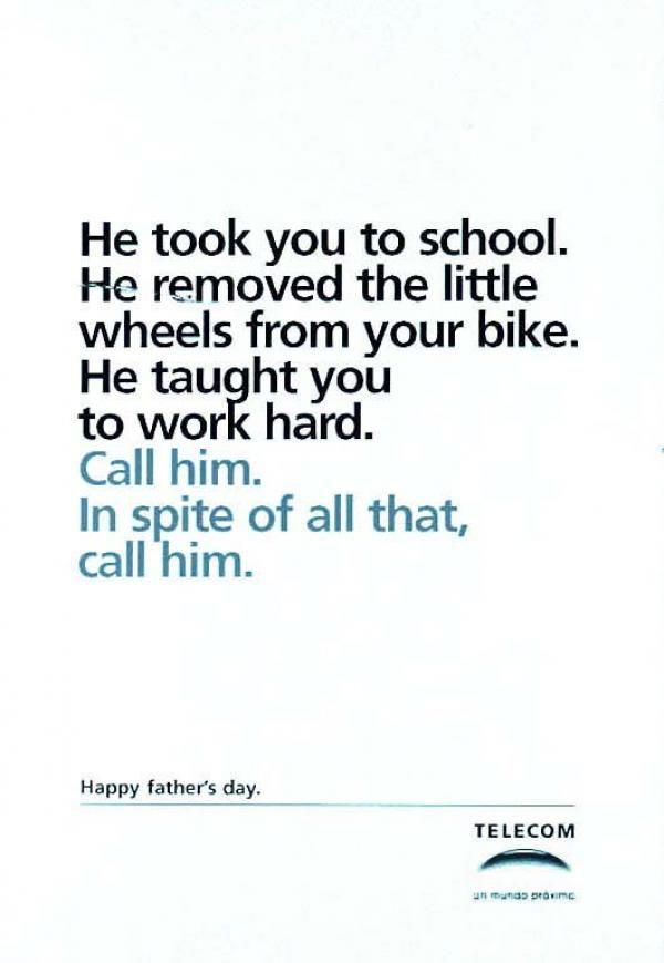 Les 25 publicités les plus créatives sur la Fête des Pères - Father's Day creative ads 3