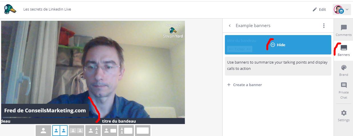 Comment faire un Facebook Live, Youtube Live ou Linkedin Live? La méthode pas à pas avec Be.live ! 48