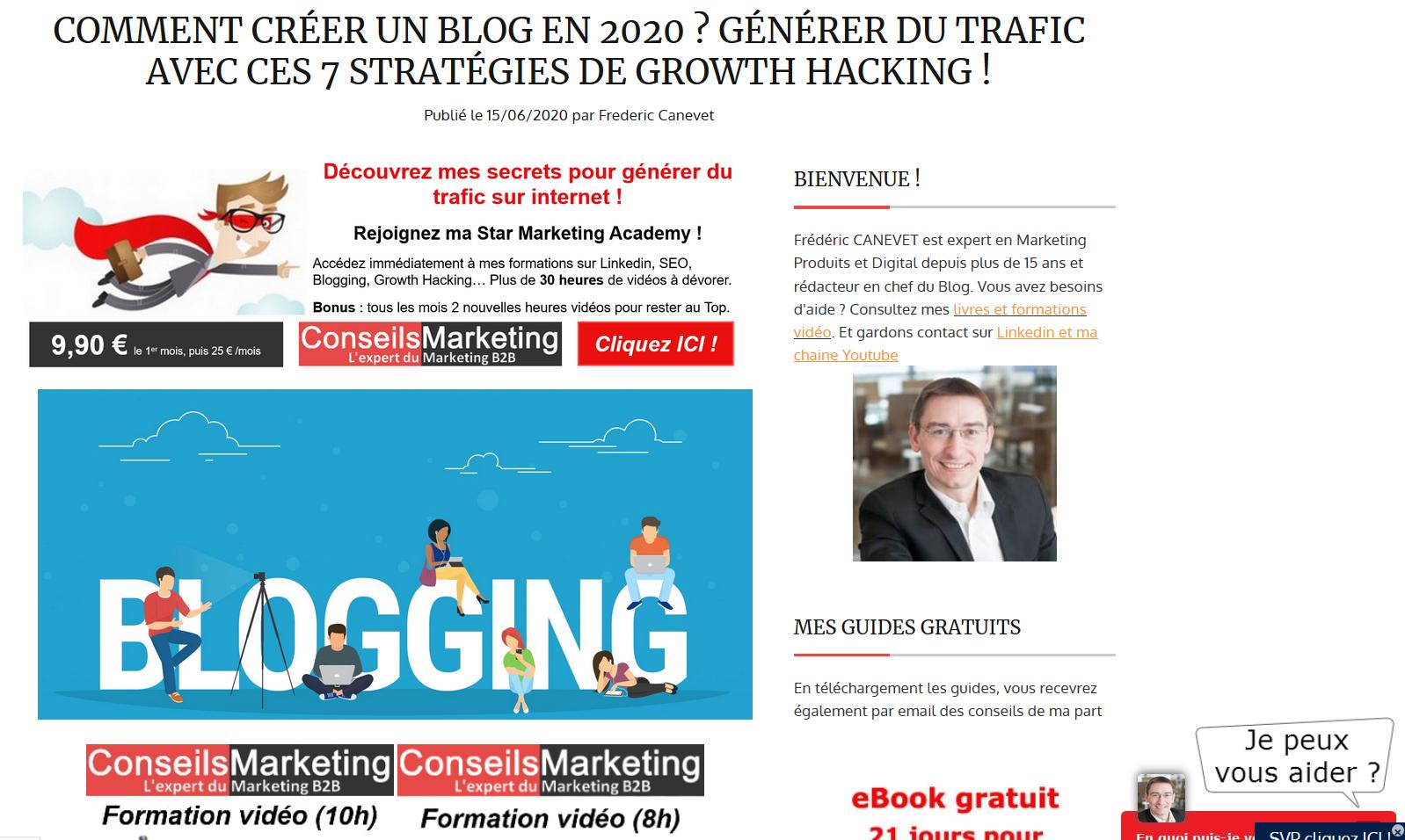 Comment créer un blog en 2020 ? Générez du trafic avec 8 stratégies de Growth Hacking ! 6