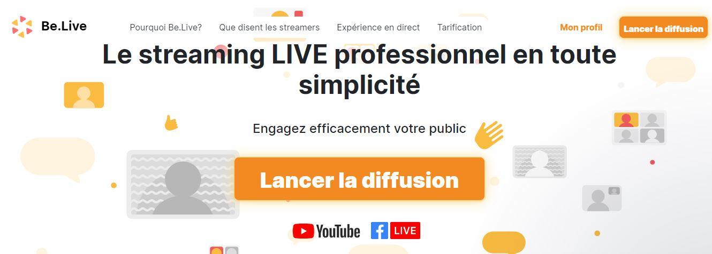 Comment faire un Facebook Live, Youtube Live ou Linkedin Live? La méthode pas à pas avec Be.live ! 8
