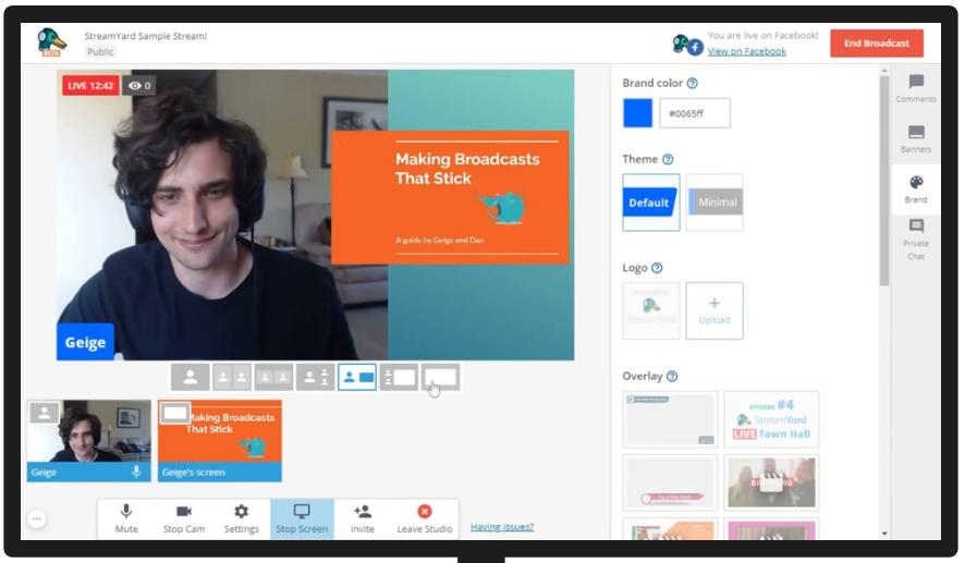 Comment faire un Facebook Live, Youtube Live ou Linkedin Live? La méthode pas à pas avec Be.live ! 35