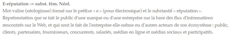 eRéputation en entreprise : l'état des lieux dans les entreprises Françaises ! 3