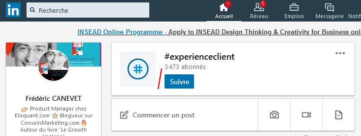 Utilisez les Hashtags LinkedIn pour être plus visible sur Linkedin ! 3