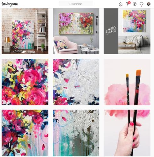 11 conseils pour se faire connaître en tant qu'artiste peintre via Instagram - Instagram artiste peintre! 13