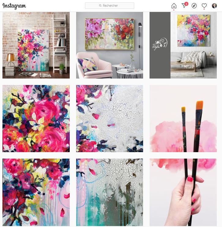 11 conseils pour se faire connaître en tant qu'artiste peintre via Instagram - Instagram artiste peintre! 10