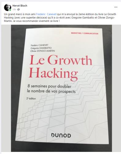 """La Seconde Edition de mon Livre """"Le Growth Hacking"""" vient de sortir... plus de 30% du livre a été totalement ré-écrit ! 30"""
