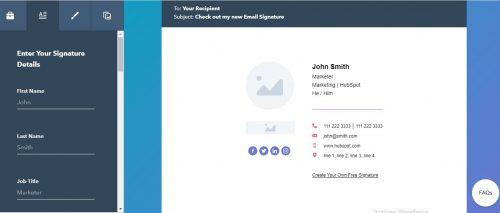 Les 22 meilleurs logiciels pour créer une signature d'email + Modèle signature mail 29