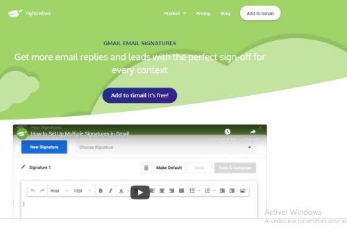 Les 22 meilleurs logiciels pour créer une signature d'email + Modèle signature mail 30
