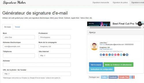 Les 22 meilleurs logiciels pour créer une signature d'email + Modèle signature mail 18