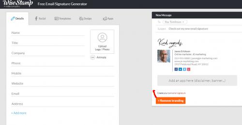 Les 22 meilleurs logiciels pour créer une signature d'email + Modèle signature mail 21