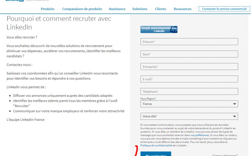 Comment contacter Linkedin ? Quel est l'email ou le numéro de téléphone de Linkedin ? 3