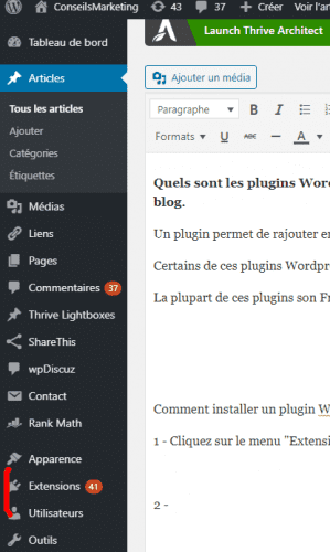 Les plugins Wordpress indispensables ! 6