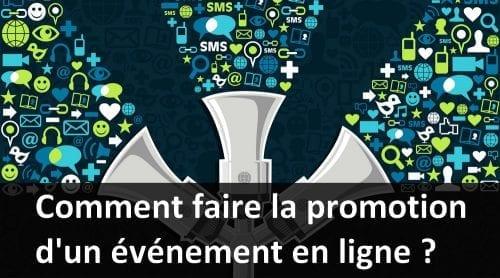 promotion événement en ligne