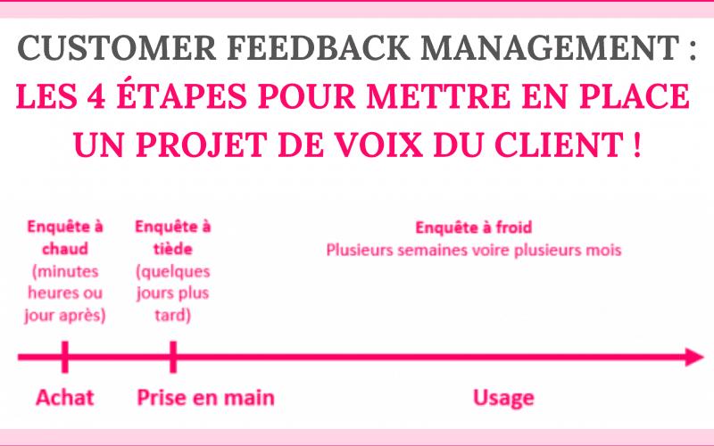 Customer Feedback Management : les 4 étapes pour mettre en place un projet de Voix du Client ! 4