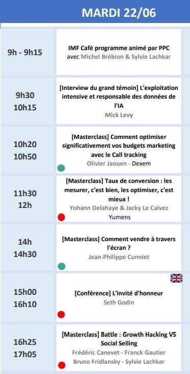 RDV le 22 Juin avec Seth Godin lors de l'Inbound Marketing France 2021 + ma conférence Social Selling & Growth Hacking 11