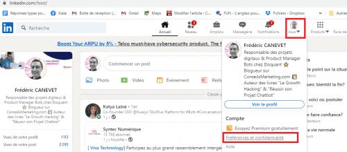 Comment fusionner deux profils Linkedin, ou supprimer un compte LinkedIn ? 4