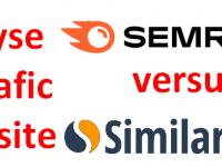 Quel est le meilleur outil gratuit pour analyser le référencement et le trafic d'un site web ? SEMrush ou SimilarWeb ? 1