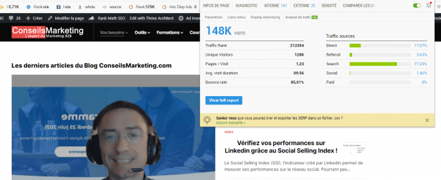 Quel est le meilleur outil gratuit pour analyser le référencement et le trafic d'un site web ? Semrush ou SimilarWeb ? 35