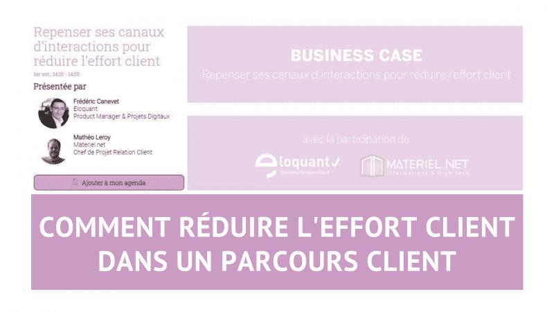 Découvrez comment réduire l'effort client dans un parcours client - Témoignage de Materiel.net 154