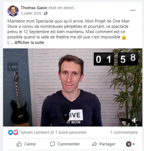 Comment générer du trafic via Facebook Live et Youtube Live, et avoir plus de vues sur ses vidéos YouTube ? - Thomas Gasio 7