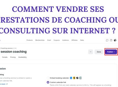 Comment vendre ses prestations de coaching ou consulting sur internet ? Avec Podia cela prend désormais 5 minutes pour vendre vos prestations en ligne ! 3