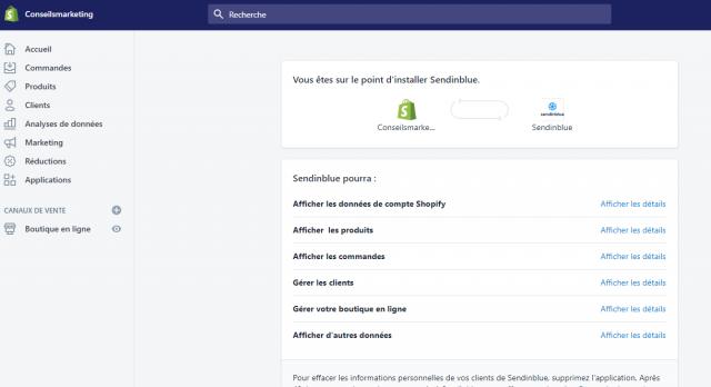 Envoyez des SMS et des emailings depuis Shopify grâce à Sendinblue ! 8
