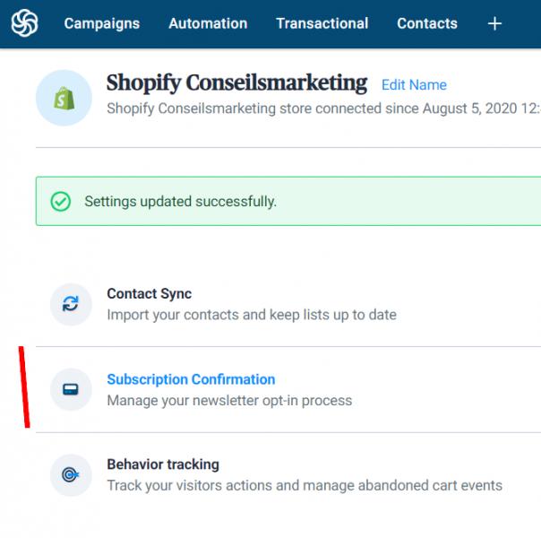 Envoyez des SMS et des emailings depuis Shopify grâce à Sendinblue ! 20