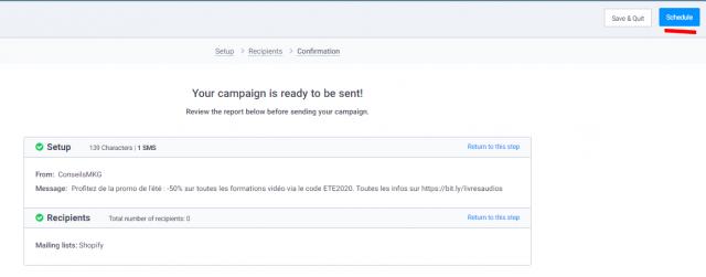 Envoyez des SMS et des emailings depuis Shopify grâce à Sendinblue ! 34