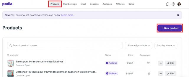 Comment vendre ses prestations de coaching ou consulting sur internet ? Avec Podia cela prend désormais 5 minutes pour vendre vos prestations en ligne ! 4